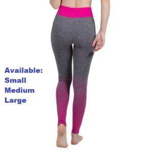 Gray with Pink Fade Yoga Pants